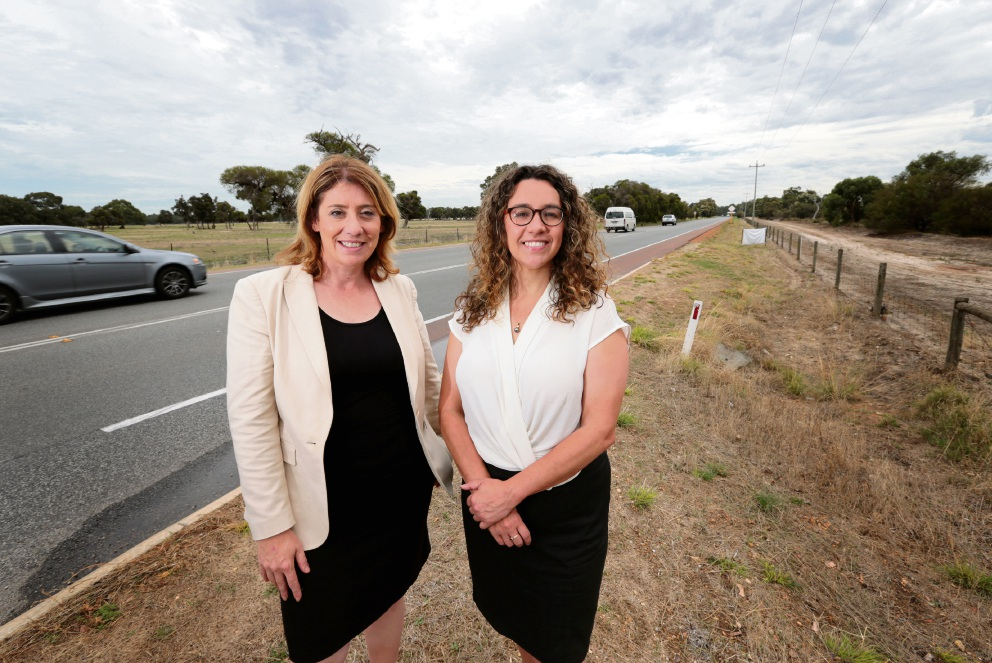 Rita Saffioti MLA (Member for West Swan) and Jessica Shaw (Labor Member for Swan Hills). Picture: David Baylis