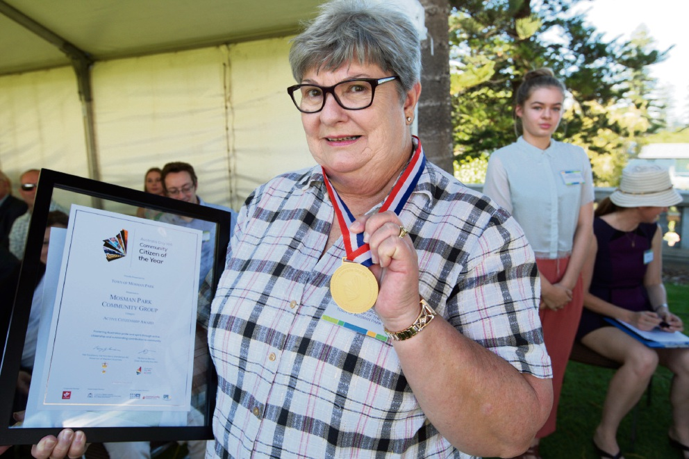 Chaplain wins Mosman Park's Citizen of the Year award