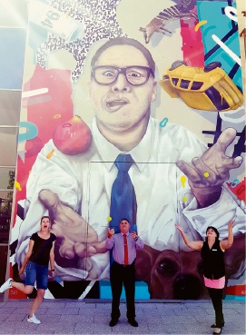 UK street artist Dan Newso livens up Ellenbrook Secondary College