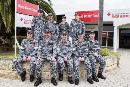 Saving lives in the blood of HMAS Stirling personnel