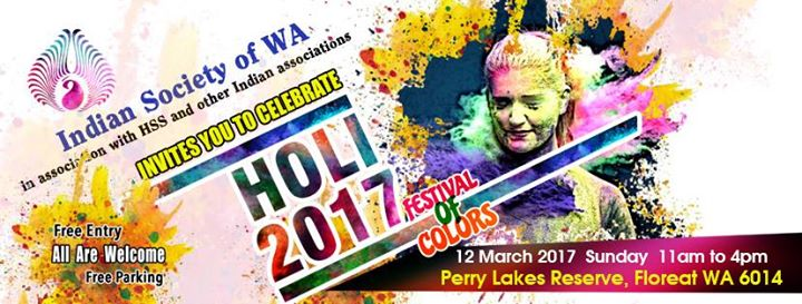 Perry Lakes Reserve to host Holi 2017 Indian festival