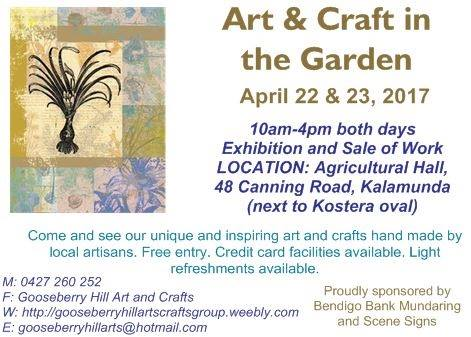 Art and Craft in the Garden Exhibition at Kalamunda Agricultural Hall