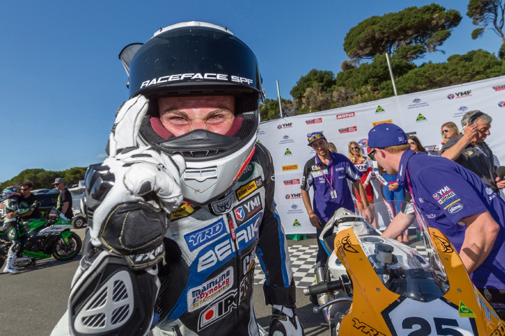 Daniel Falzon after his third and final win in round one.        Picture: Andrew Gosling – TPG Photography