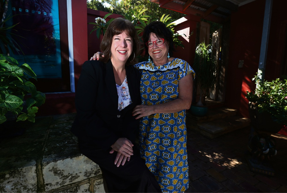 Adele Carles and Susan Saleeba, founder of Nakuru Hope. Picture: Matt Jelonek        www.communitypix.com.au d465941
