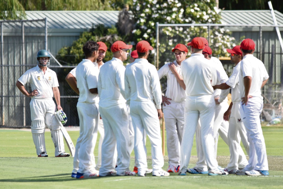 Perth players talk it over during their loss to Joondalup.