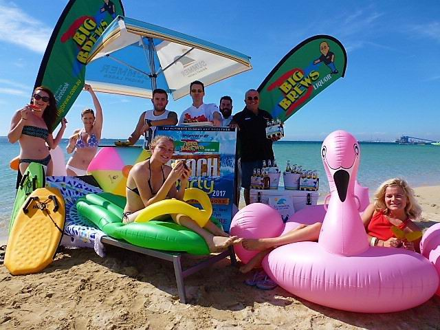 Big Brews Beach Party team are gearing up for a fun-filled event.