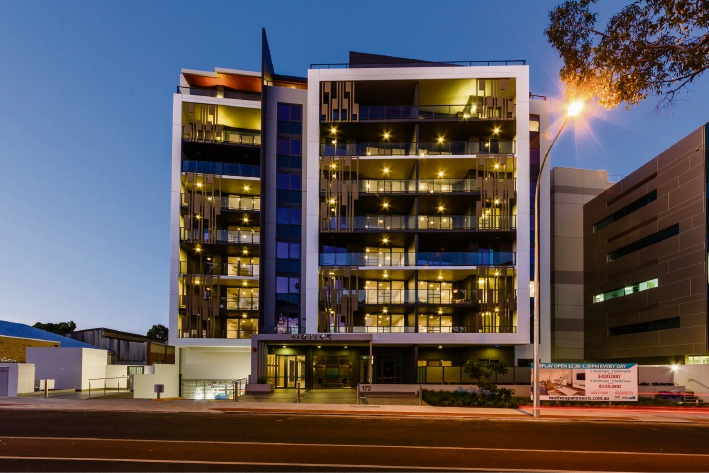 The completed Motive development in West Leederville.