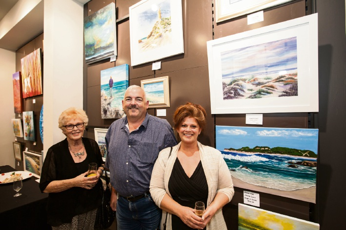 Wanneroo residents Christine and Mark Farrell with Liz Ougpirezos, of Two Rocks.
