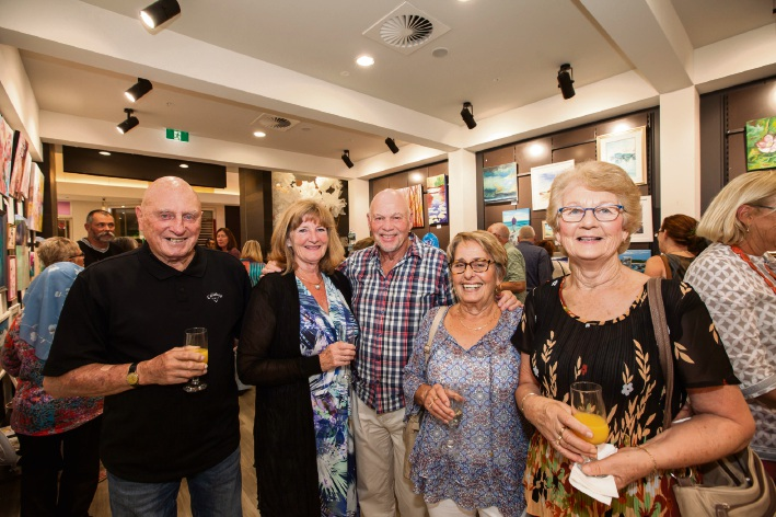 Fred Carrick (Merriwa), Ann Ward (Joondalup), Roy and Diane Bastick (Quinns Rocks) and Jacque Carrick (Merriwa).