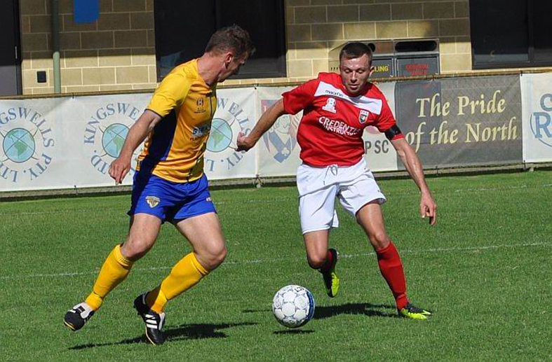 ECU Joondalup striker Daryl Nicol is half of the best strike force in the NPL WA according to Joondalup City coach Nick Jennings. Picture: Peter Simcox
