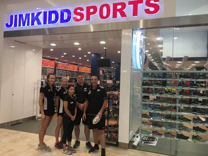 Jim Kidd Sports is the first store to open at the redeveloped Mandurah Forum.