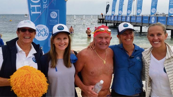 Port to Pub: Kalamunda father-daughter team to tackle open water swim