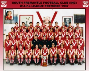 South Fremantle's 1997 premiership team.