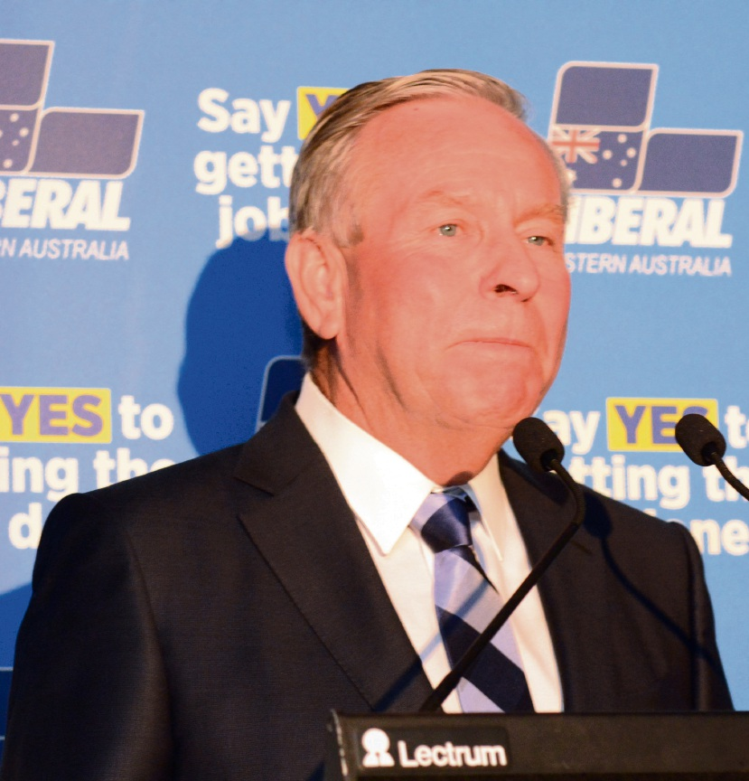 Colin Barnett concedes defeat in the 2017 election. Pictures: Jon Bassett