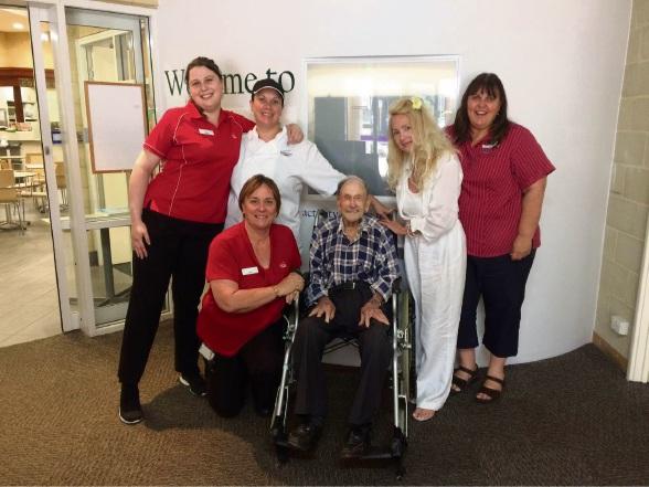 Halls Head centenarian David Lloyd brings up the ton in style