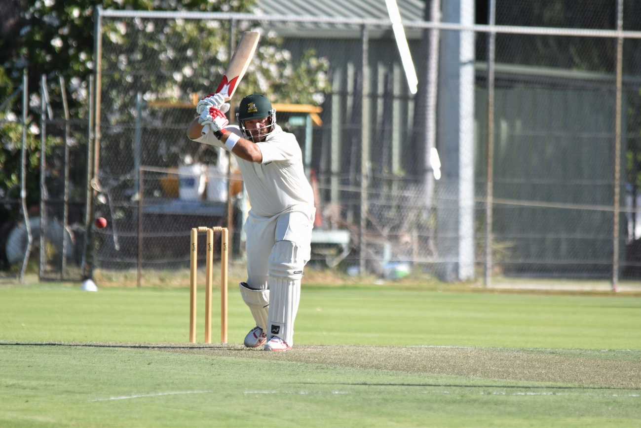 Joondalup captain Michael Swart at the crease against Perth.