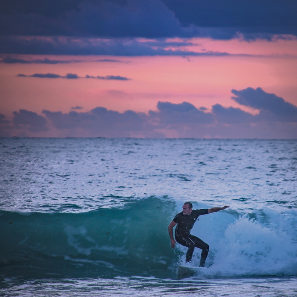 Clarkson resident Leanne Scaddan won the Instagram category last year with this picture of a surfer.