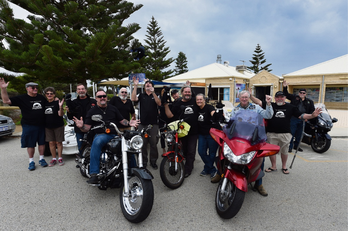 Hundreds of people are expected to join the Black Dog Ride from Baldivis to Dwellingup on Sunday. Picture: Jon Hewson        www.communitypix.com.au   d466610