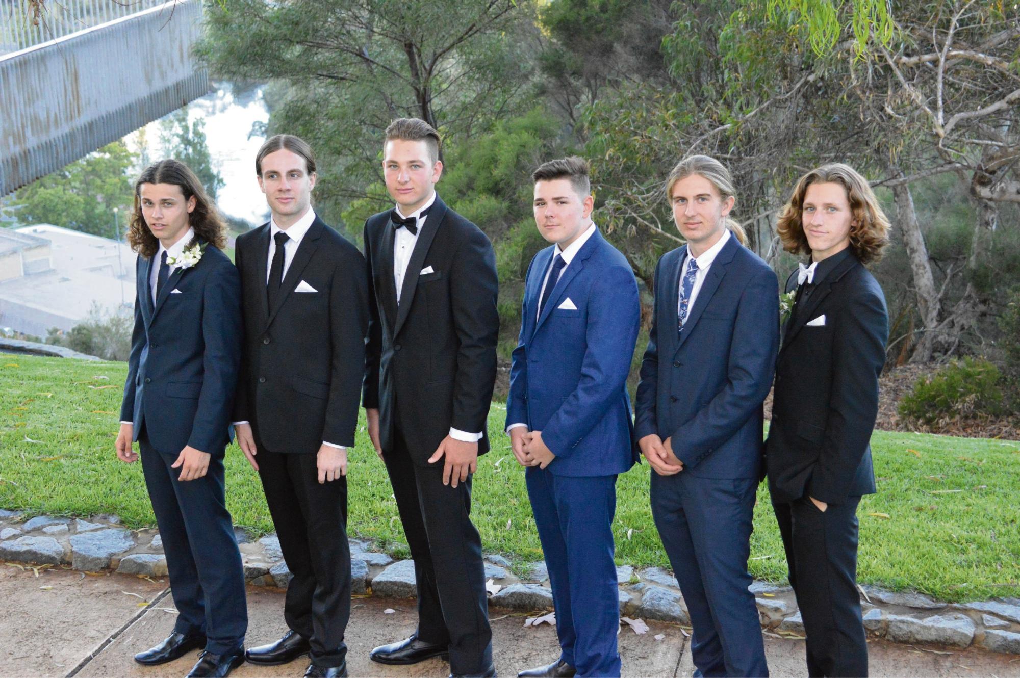 Liam Farmer, Brodie Andrews, Tom Ullrich, Tom McLean, Byron Reid and Noah Clune.