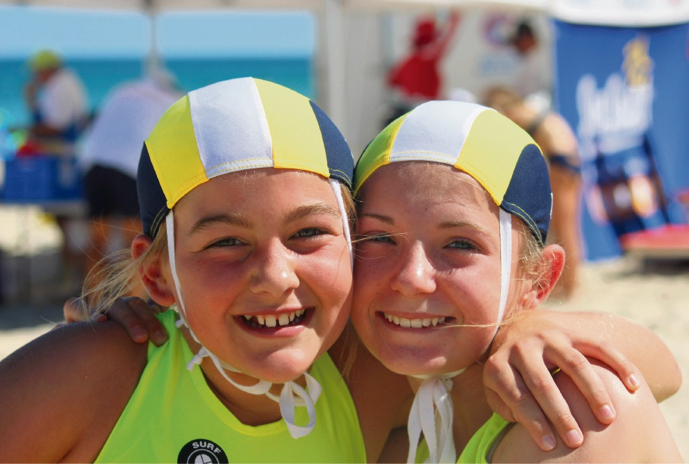 Gold medallist under-13 mixed two-person rescue and resuscitation team Sophie Mills and Edie Bushby.