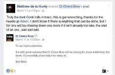 Iconic Perth deli Di Chiera Bros closes