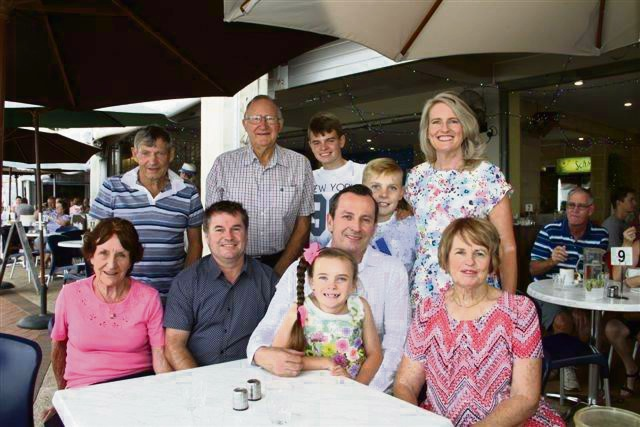 New Premier Mark McGowan and his family enjoy brunch at Rockingham foreshore following his party's State Election win.