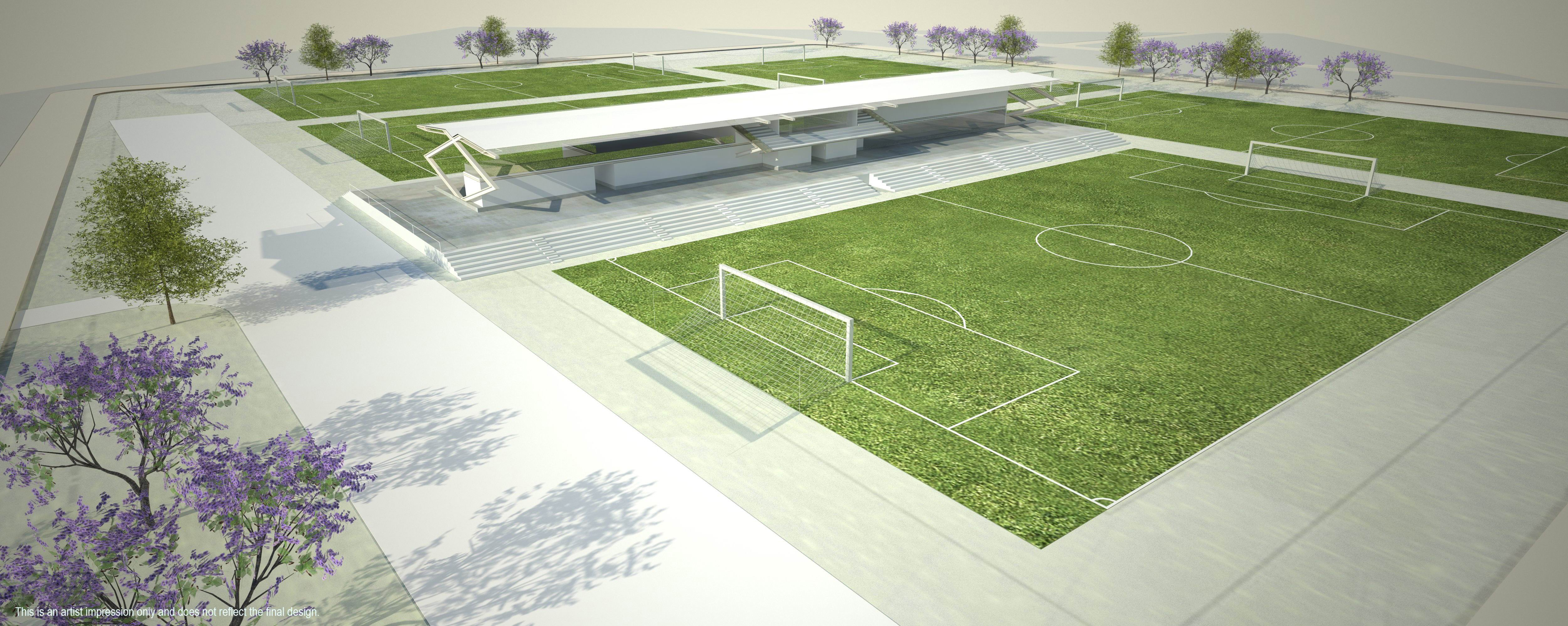 Concept plans of the State Football Centre.
