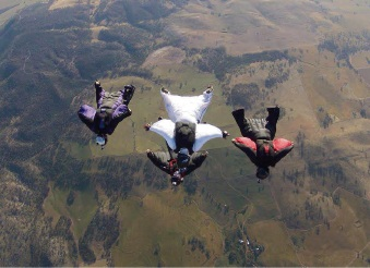 Skydive York is hosting canopy coaching until Sunday with Cornelia Mihai, who placed first in canopy piloting at the French, Italian and US nationals last year. |Picture: Patrik Minar,  Skydive York Facebook.