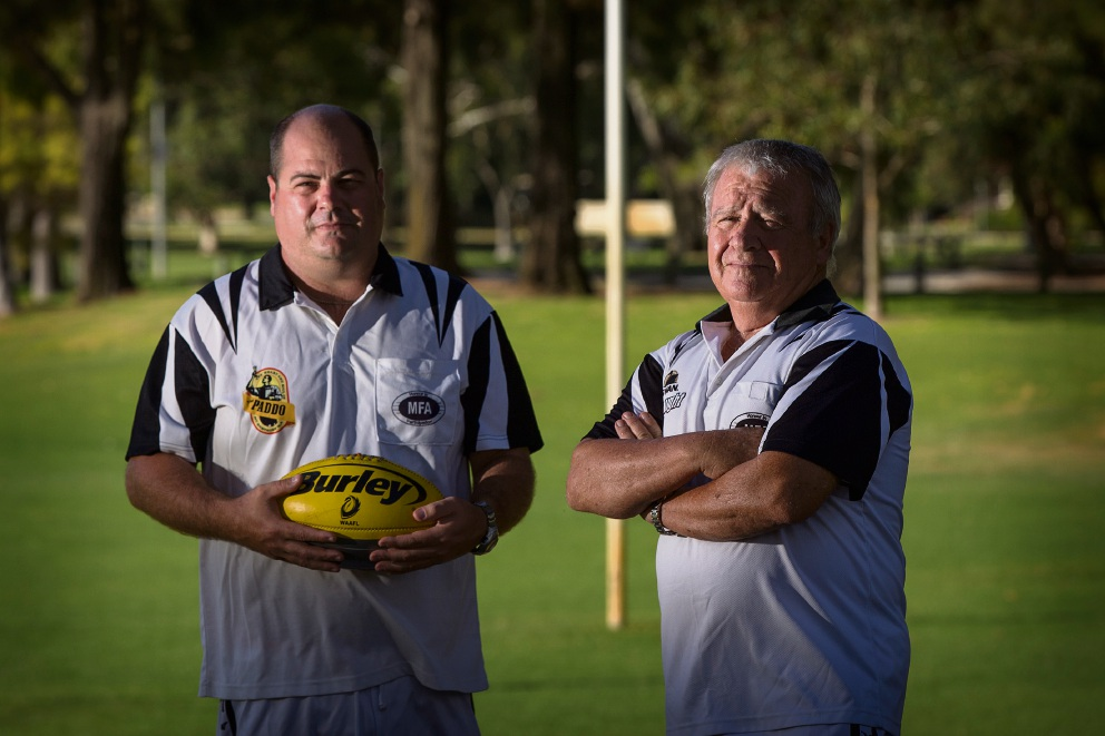 Gavin Shaw and Steve Sirko. Picture: Will Russell www.communitypix.com.au   d466439