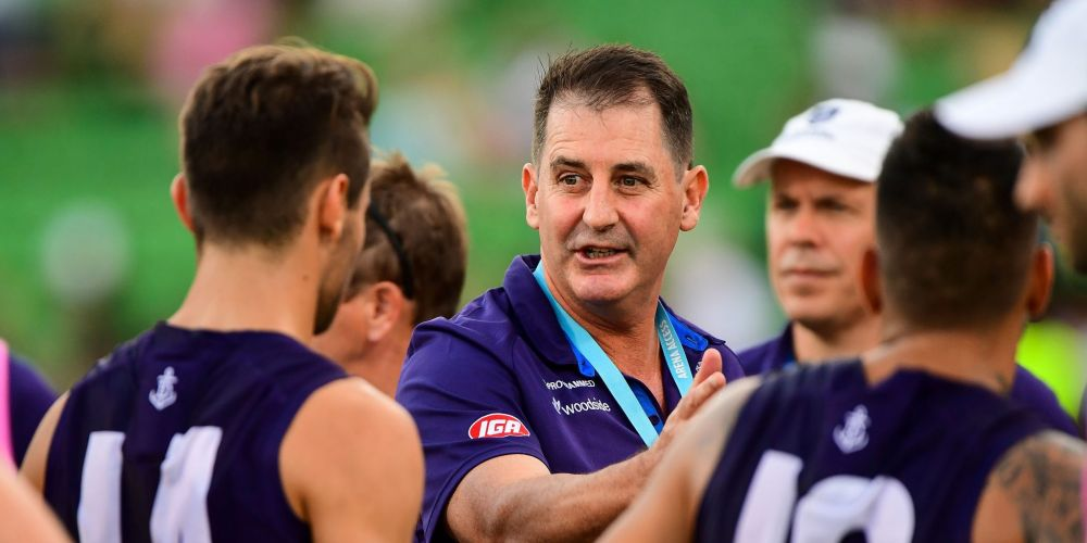 Fremantle Dockers coach Ross Lyon. Photo: Getty