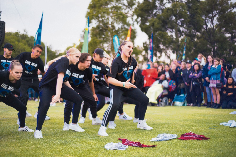 One Mob Studios dance crew. Picture: Ezra Alcantra