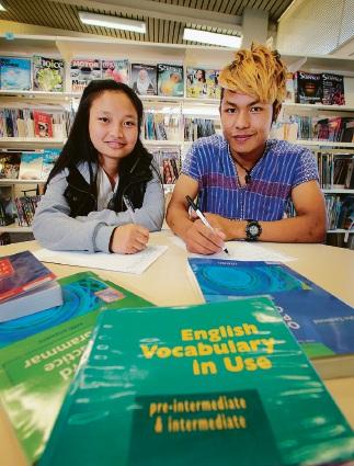 Prize-winning writers Julia Naw and Naing Lin.  Picture: David Baylis  d462256
