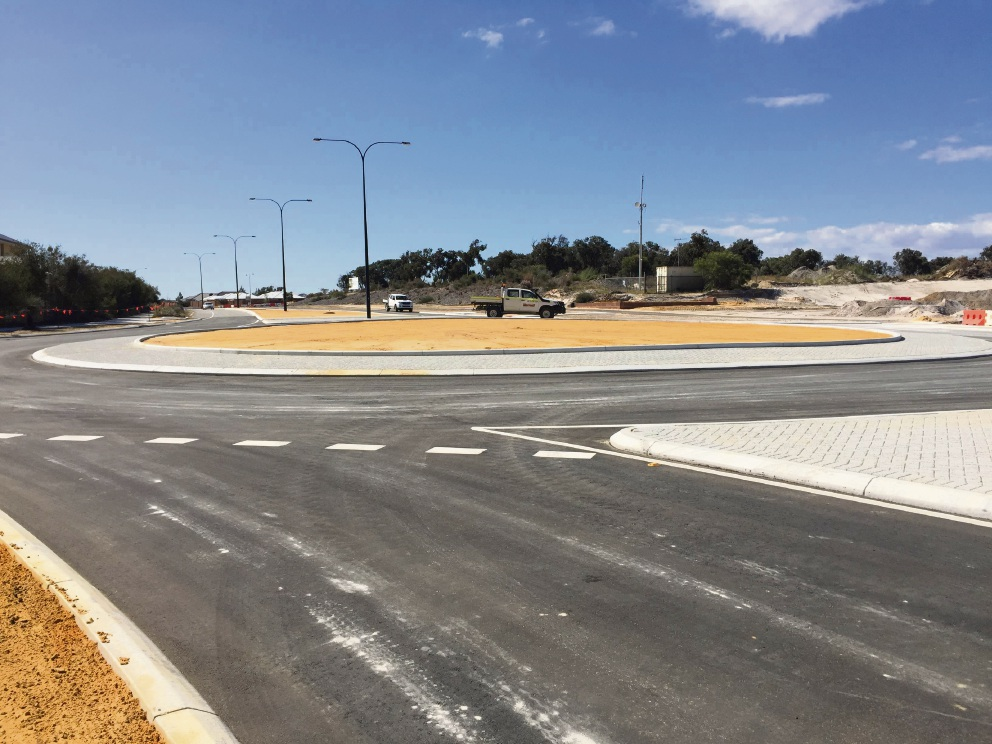 The new Pinjar Road and Golf Links Drive roundabout.