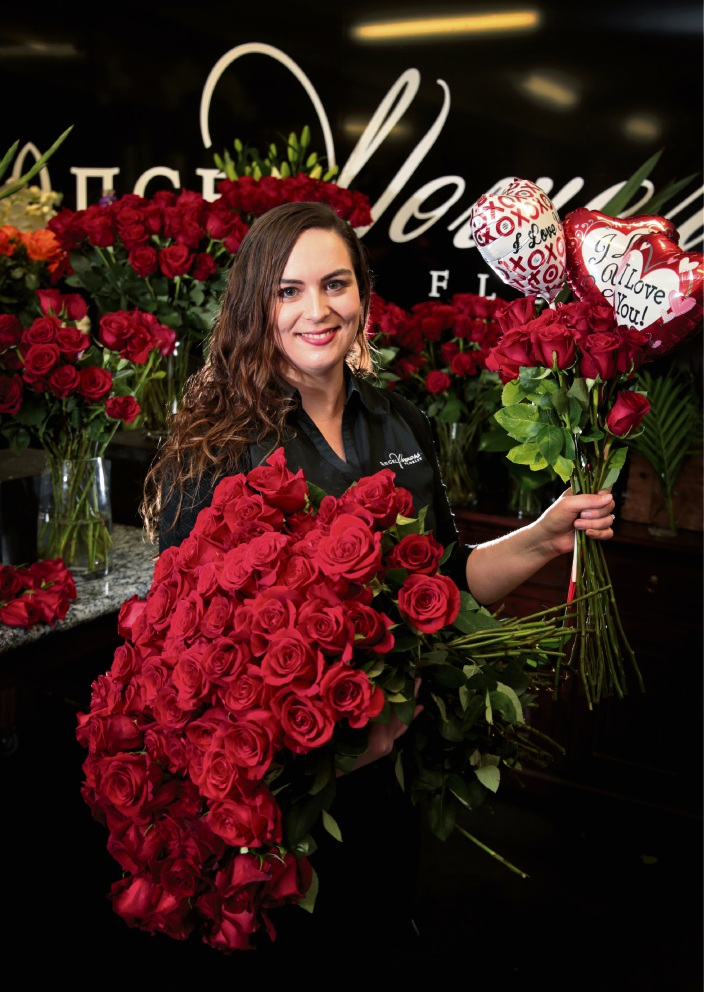 Guildford florist working around the clock in preparation for Valentine's Day