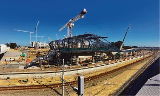 The Perth Stadium Station. Picture by: Jon Hewson.