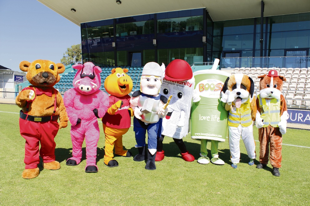 Mascots will be lining up to take part in the Bendigo Bank family fun day at the Peel Thunder's first home game of the 2017 season this Saturday.