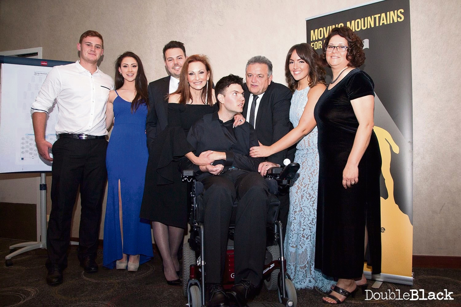 Mitch Cleary with family and friends.