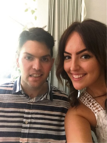 Mitch Cleary (27) with his sister Shannon (29).