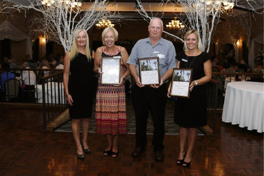 Wanneroo Mayor Tracey Roberts with award recipients Yvonne Mahon, Eric Byleveld and City community services manager Katier URussell accepting on behalf of John Beaton.