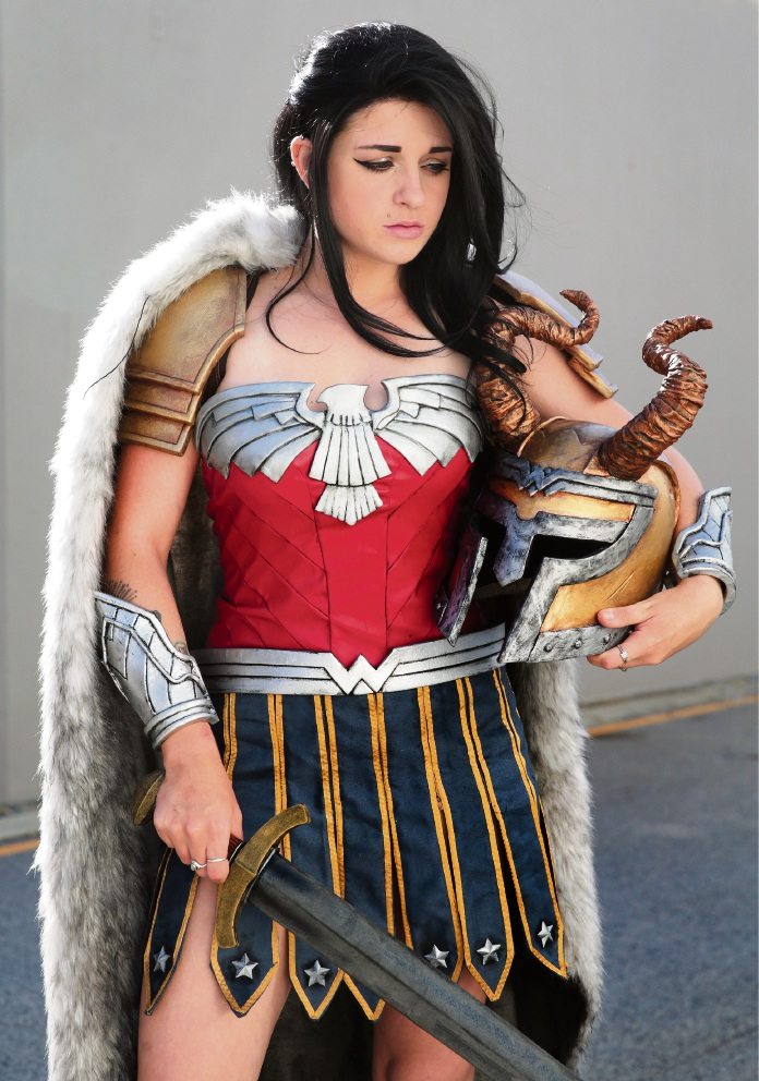 AstroKerrie as Wonder Woman. Picture: Martin Kennealey d466979