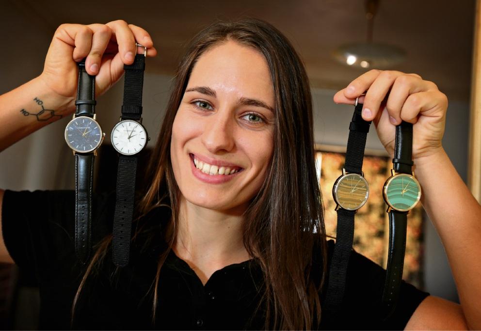 Mel Barrett, of Clerestone Watches. Picture: David Baylis                d466127