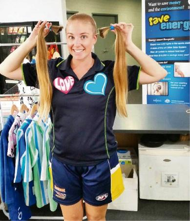 Emma Vaughn-Williams' haircut raised $1500.