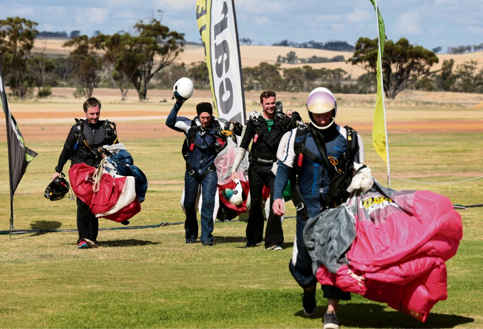 The Australian National Skydiving Championships. Pictures: David Baylis.