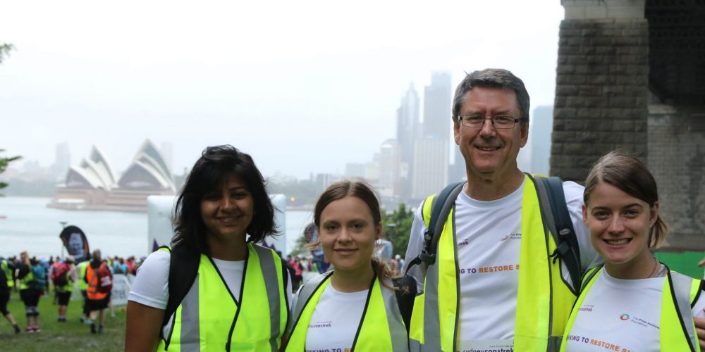 Aparajita Bijapukar, Monika Uchanski, Mick Rogers, and Annabel Rogers walked 30km to raise funds for The Fred Hollows Foundation.