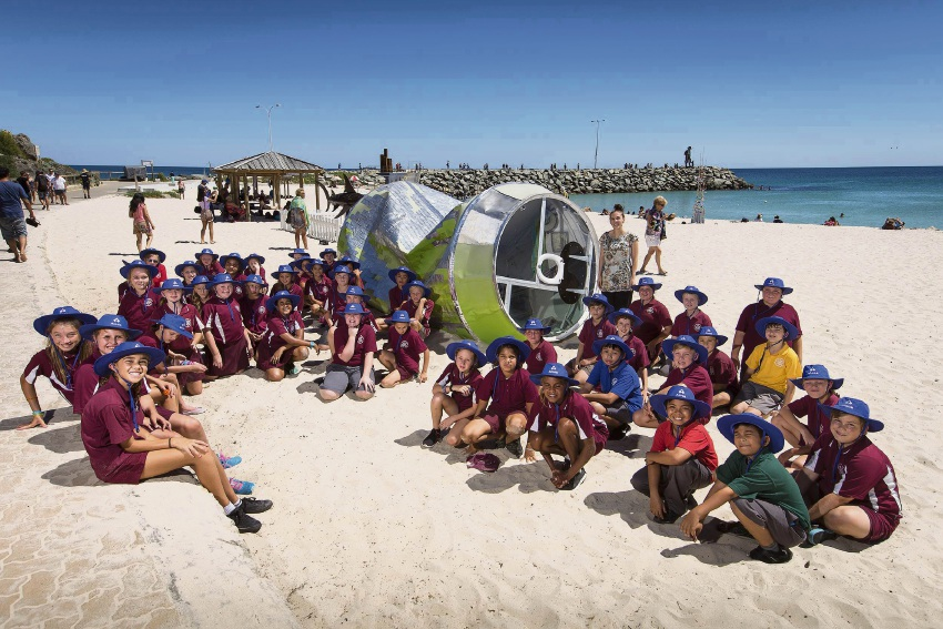 Calista Primary School enjoy a day at Cottesloe beach.