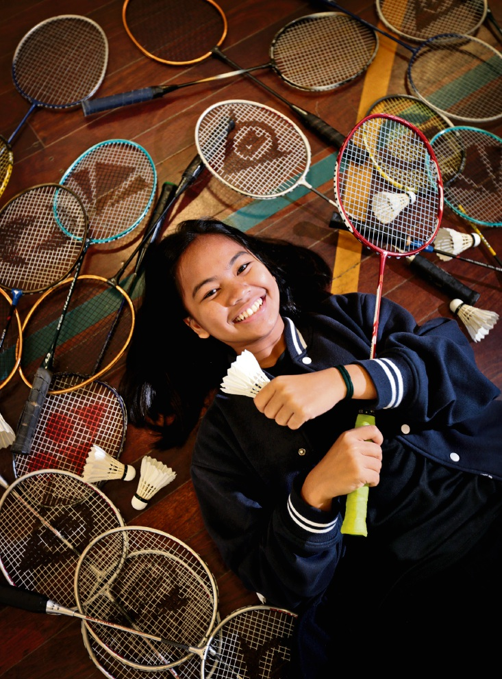 WA under-17 badminton star and Year 11 Kiara College student Katrina Garing (15) of Dayton. Picture: David Baylis