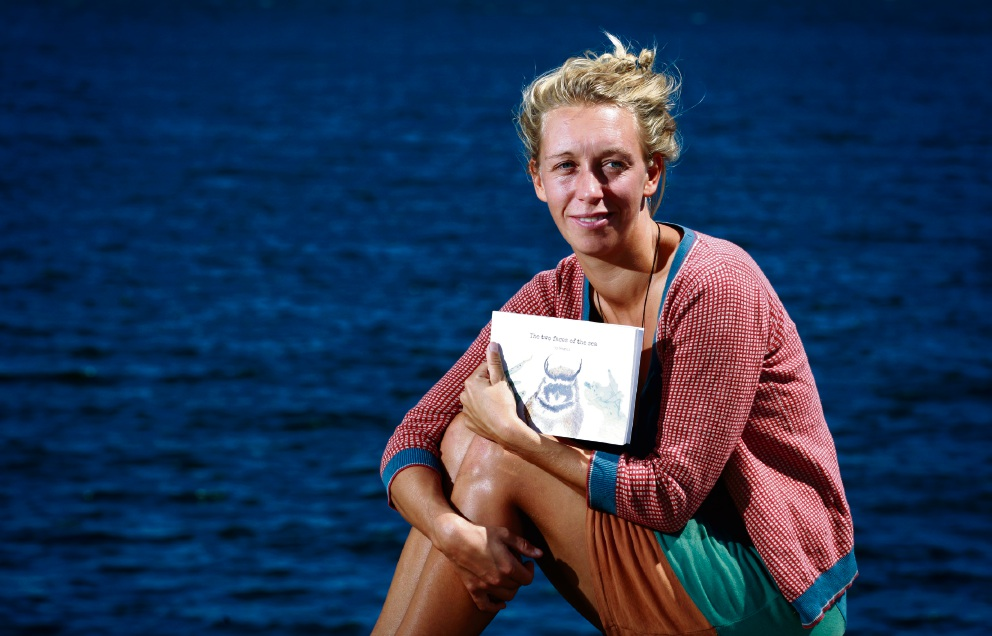 Lara Averhoff has written a book about the hope and danger of oceans. Picture: Marie Nirme www.communitypix.com.au d46137