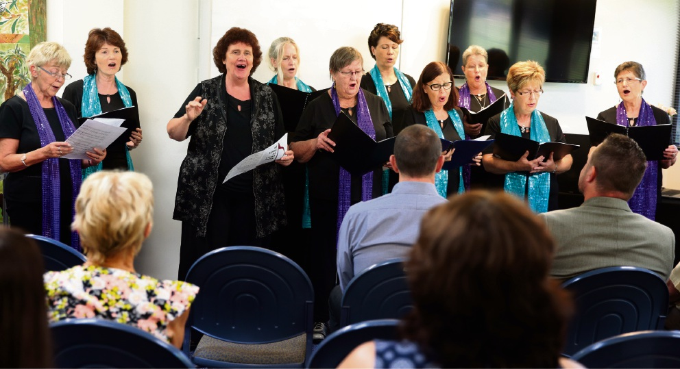 Circle of Friends Community Choir. Picture: Martin Kennealey d465758