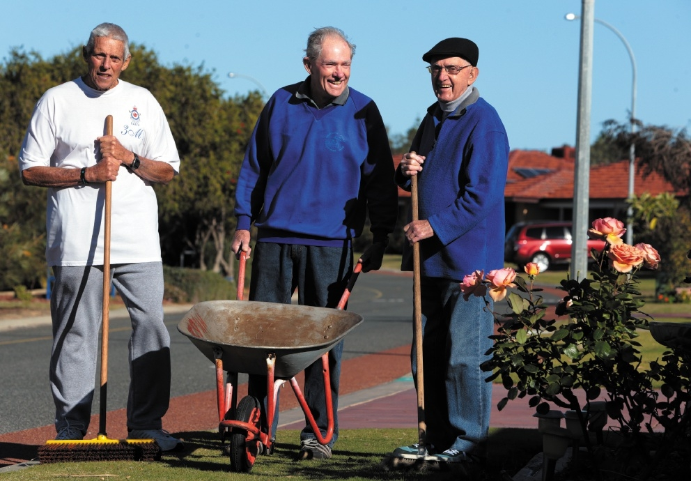 3Ms' Harry Kimber, John Lockley and Bob Howden. |Picture: Martin Kennealey        www.communitypix.com.au 439122