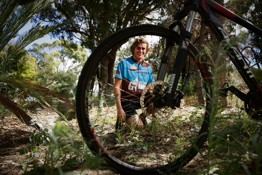 Taj Mueller from Hale School has nominated as a soloist in the Gibb River Mountain Bike Challenge. Picture: Andrew Ritchie